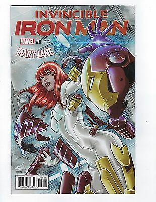 Invincible Iron Man # 8 Mary Jane Variant Cover  Marvel NM