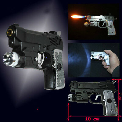 Electric Shock Pistol lighter LED Gun Toy Prank Trick Multipurpose 3 in 1 Magic