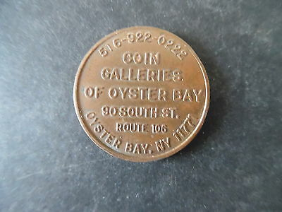 Vintage Oyster Bay New York Coin Store Advertising Token 1794 Large Cent Design