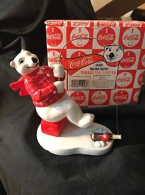 "1995 Coca-Cola ""Always Ice Fishing"" Polar Bear Figurine Collection"