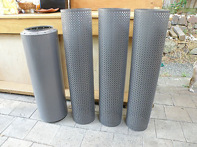 Flue Perforated For Wood Heater Fire Place Chimney Pipes Brand New