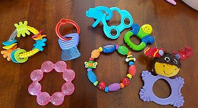 Assorted Teethers, Rattles, Toys***excellent Condition...hardly Been Used***