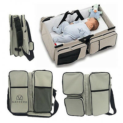 New 3 in 1 Baby Changing Station Bags Travel Bassinet Diaper Bags Portable Crib