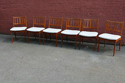 Set Of 6 Swedish Mid Century Teak Chairs - Great Vintage Condition, Ready To Use