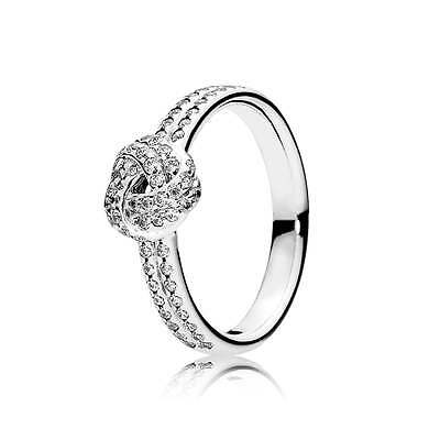 New Pandora S925 ALE Sparkling Love Knot Ring size:6/52, 7/54, 8/56, 9/58