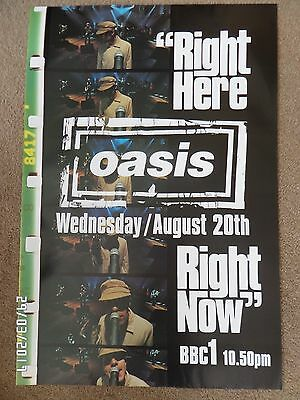 Oasis Right Here Right Now Bbc Original 1997 Promo Poster.