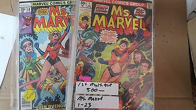 from X-Men Comic Lot Ms. Marvel 1-23 full bronze age run #18 first mystique FN