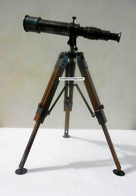 Desktop Telescope Tripod Brass Telescope With Stand Collectible Nautical Gift