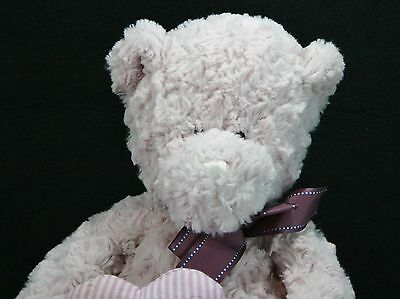 Plush CVS Valentine Lavender And Purple I Love You Stuffed Bear Heart Curly