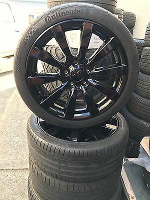 "4x Genuine MITSUBISHI LANCER RALLIART MODEL 18"" WHEELS & CONTINENTAL TYRES"