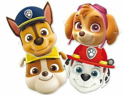 6 Paw Patrol Masks - Official - Party Toy Loot Cardboard Gift Kids Dog Puppy