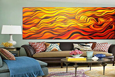 Modern abstract desert Aboriginal painting By Jane COA Authentic large Canvas