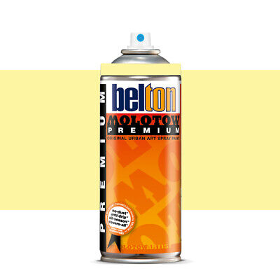 Molotow : Belton Premium Spray Paint : 400ml : Jasmin Yellow 001 : By Road Parce