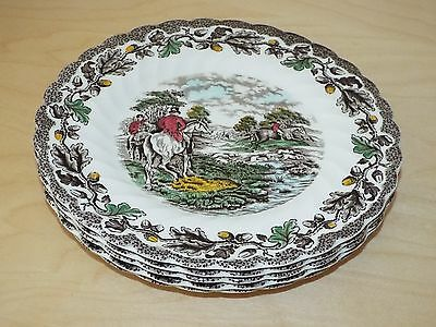 "5 Myott COUNTRY LIFE 8"" Diameter Salad or Side Plates"