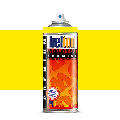Molotow : Belton Premium Spray Paint : 400ml : Neon Yellow 232