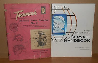 TECUMSEH Compressor Service books from 1952 and 2001