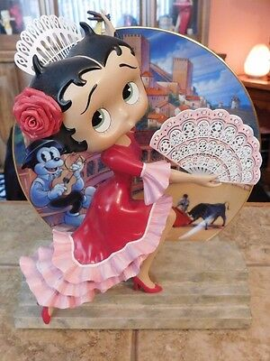 Betty Boop Very Rare Danbury Mint Senorita Figurine With Numbered Plate