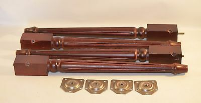 Set of 4 Salvage Cherry Wood Table Legs Coffee Table Piano Bench 21""