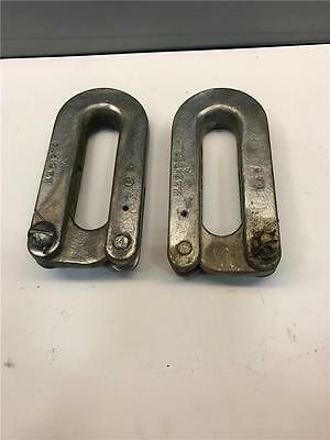 2 Ton Jervis B Webb Trolley Hoist Loop Hook Tool 2 Piece Hanger Link 44B1272 Set