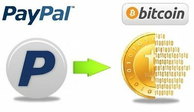 0.01 BTC PayPal to Bitcoin Exchange - INSTANT direct to your wallet