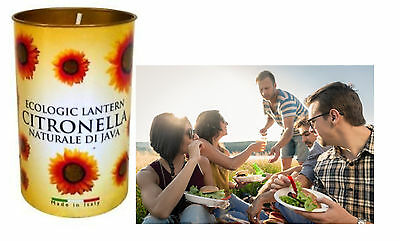 40 Hour Burn Time Citronella Lantern Candle Garden Patio Camping BBQ Travel Deck