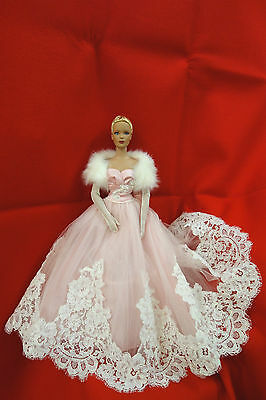 OOAK RED SILK THREAD PINK SATIN AND LACE GOWN Cindy Friesen for Tyler doll
