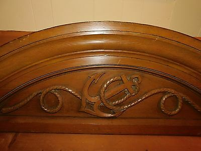Antique Oak Hand Carved Anchor Door Arch Architectural from Mansion