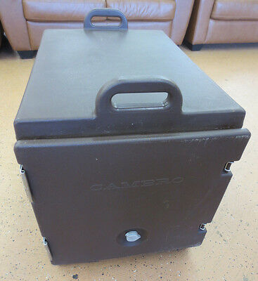 Cambro 300MPC Brown Front Loading Insulated Food Pan Cooler Carrier w/Handles