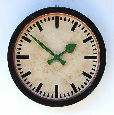 WEST GERMAN large 1960s Midcentury Vintage Retro Industrial Factory Office Clock