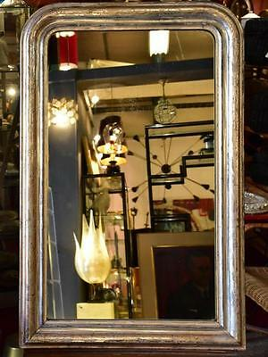 Antique French silver leaf Louis Philippe mirror 19th century