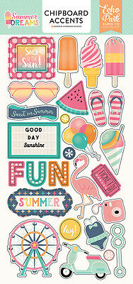 Echo Park Summer Dreams (1) Pack Chipboard Sticker Embellishments