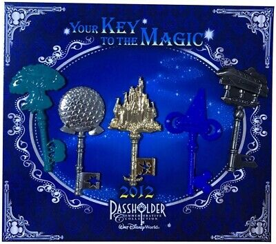 Your Key To The Magic 2012 Disney Trading Pin Set - 5 Total LE Pins - Brand NEW