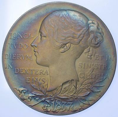 Queen Victoria - 1897 Jubilee Official Large Silver medal cased stunning Tone