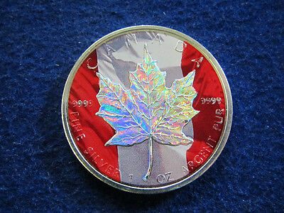2006 Canada $5 Silver Maple Leaf - Color - Free U S Shipping