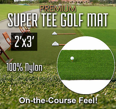 Premium Super Tee Golf Mat - 2 feet x 3 feet