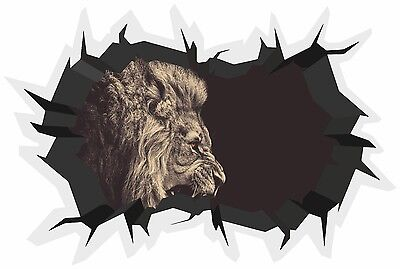 Cave Effect Crack Neon Leopard Awesome Wall Sticker Poster Vinyl GA33-191