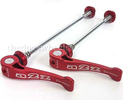 A2Z Quick Release Wheel Skewers QR Bicycle MTB Bike Red Q/R Spindles
