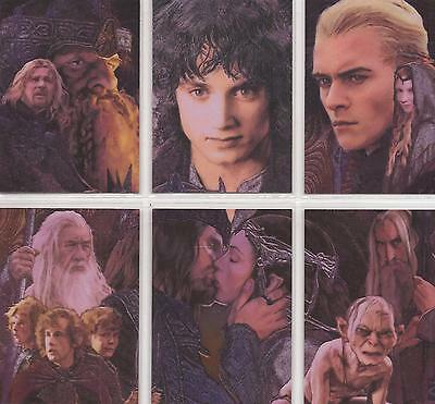 """Lord of the Rings Masterpieces II - """"Etched-Foil"""" Set of 6 Chase Cards #1-6"""