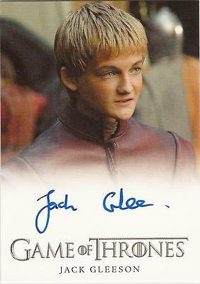 "Game of Thrones Season 1 - Jack Gleeson ""Joffrey Baratheon"" Autograph Card"