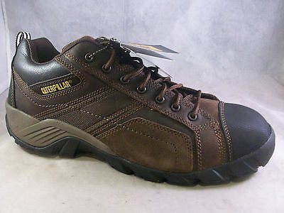 New Caterpillar Men's Argon Composite Toe Shoes Dark Brown 14 Medium $100  Nib
