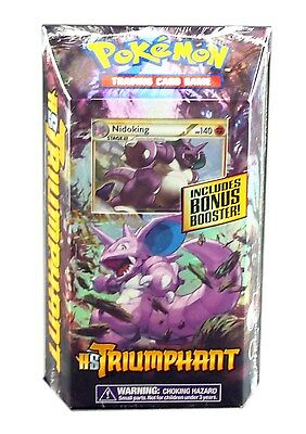 Pokemon TCG Hs Triumphant, Nidoking Royal Guard Theme Deck, New and Sealed