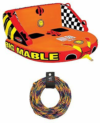 SPORTSSTUFF 53-2213 Big Mabel Double Rider Towable Inflatable Tube w/ Tow Rope
