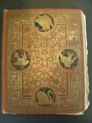 Antique Victorian Scrapbook Album*60 Pages*250+ Trade Cards*50+ Jordan Marsh++++