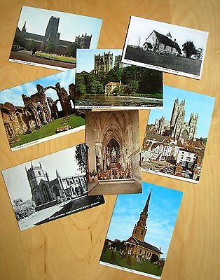 Job Lot x 8 Postcards of Churches, Priories & Cathedrals of England
