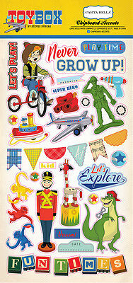 Carta Bella Toy Box Story (1) Pack Chipboard Sticker Embellishments
