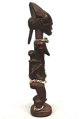 Art Africain Premier - Authentique Maternité Baoulé - Collection Perso - 24 Cms