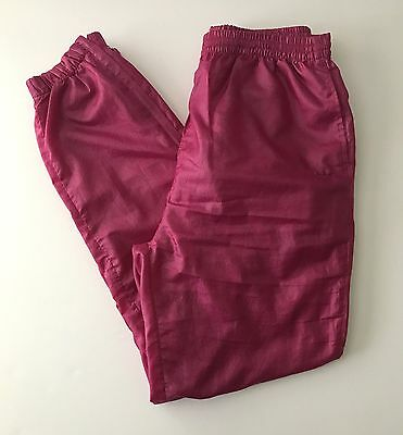 Women's Vintage ADIDAS Nylon Track Wind Pants Size Medium Hot Pink SOFT!