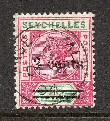 Seychelles Anse-Royale 1904 PostMk.  QV Issue Fine Used 2c. Surcharged 160077