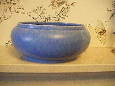 Art Deco George Clews Chameleon Ware Blue Fruit Bowl