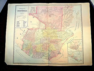 1889 MAP, COLOMBIA, GUATEMALA, VENEZUELA, PLATE's 76-77-78, BRADLEY'S ATLAS OF T